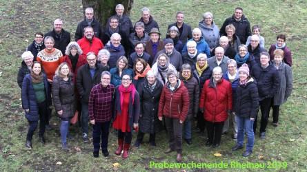 Probewochenende, Rheinau 2019, Kirchenchor Peter und Paul